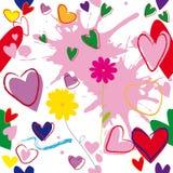 kwiatów serc wzór Fotografia Royalty Free