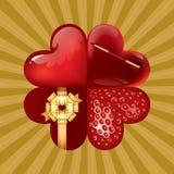 kwiatów serca Zdjęcia Royalty Free