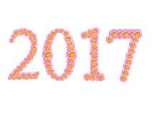 2017 kwiatów tekst Obraz Stock