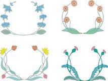 Kwiatów wianki Obraz Royalty Free