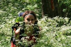 kwiatów wiosna kobieta Zdjęcia Stock