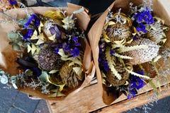 Kwiatów wysuszeni przygotowania Obraz Stock