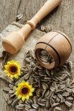 Kwiatów ziaren inbowl Obrazy Stock