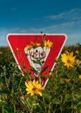 kwiatów znaka fedrunek Obrazy Stock