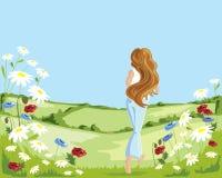 kwiat łąki ilustracja wektor