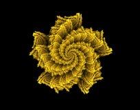 Kwiat abstrakcjonistycznej sztuki złoto Obraz Stock