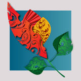 kwiat abstrakcyjne Zdjęcie Stock
