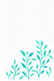 Kwiat akwarela twój tło tekst Zdjęcie Stock