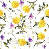 kwiat bezszwowy Zdjęcia Royalty Free