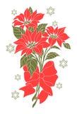 Kwiat Bożenarodzeniowa noc royalty ilustracja