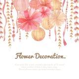 Kwiat dekoraci tło ilustracja wektor