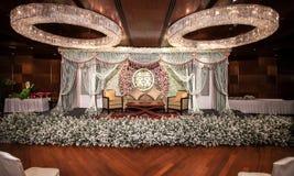 Kwiat dekoracje na scenie Zdjęcia Royalty Free