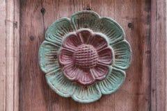 Kwiat drewniany śpiewa Obraz Stock