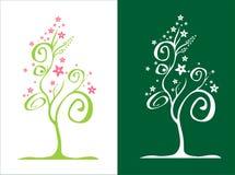 kwiat drzewny stylizowany wektora ilustracja wektor