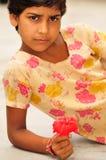 kwiat dziewczyna Zdjęcia Royalty Free