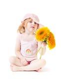 kwiat dziewczyna Obraz Stock