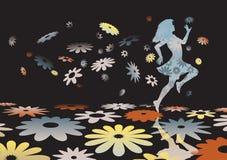 kwiat dziewczyna ilustracja wektor