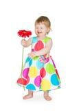 kwiat dziewczyna wręcza trochę Obrazy Royalty Free