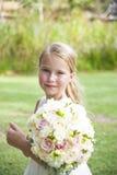 Kwiat dziewczyna z bukietem Obraz Stock