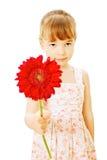 kwiat dziewczyny mała czerwień obraz stock