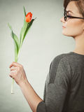kwiat elegancka kobieta Obrazy Stock