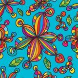 Kwiat fala przynosi balowego bezszwowego wzór ilustracji