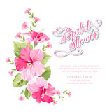 Kwiat girlanda dla zaproszenie karty royalty ilustracja