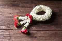 Kwiat girlandy tajlandzki styl dla Songkran Obraz Stock