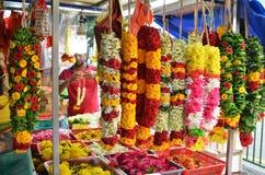 Kwiat girlandy w Małym India, Singapur Zdjęcie Stock
