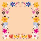 Kwiat granica Zdjęcia Stock
