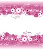 Kwiat granica ilustracji