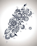 Kwiat henny projekt royalty ilustracja