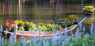 Kwiat 95 i łódź obrazy royalty free