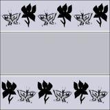 Kwiat i motyl Obraz Stock