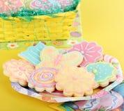 Kwiat i Motyli Cukrowi ciastka Zdjęcie Stock