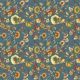 Kwiat i ptak bezszwowa konsystencja Obraz Stock