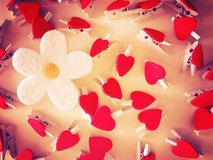 Kwiat i serca obrazy royalty free