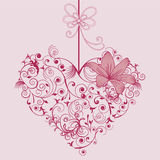 Kwiat i serce Fotografia Royalty Free