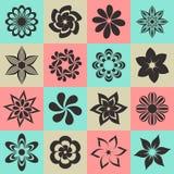 Kwiat ikony Obrazy Stock