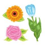 Kwiat ikony Zdjęcia Stock