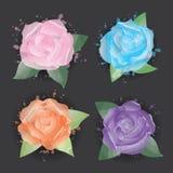 Kwiat ikony Obrazy Royalty Free