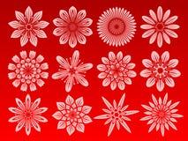 kwiat ikony zestaw Zdjęcia Royalty Free