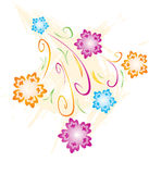 kwiat ilustracja Obraz Stock