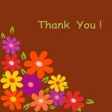 Kwiat ilustracja na Brown tle Obraz Royalty Free