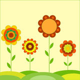 Kwiat ilustracje Zdjęcie Stock