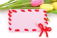 kwiat karciana poczta Zdjęcia Stock