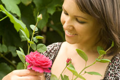 kwiat kobieta Zdjęcie Royalty Free