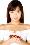 kwiat kobieta Zdjęcie Stock