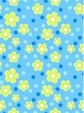 Kwiat kreskówki wektoru wzoru bezszwowa ilustracja Obrazy Royalty Free