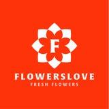 Kwiat miłości ilości trendu gatunku ikony płaski wektor Zdjęcia Stock